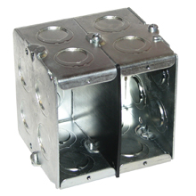 Eaton Crouse-Hinds Series,TP692,Crouse-Hinds TP692 Masonry Box, Steel, 66.5 cu-in, 3 Gangs, 14 Knockouts