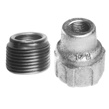Eaton Crouse-Hinds Series,RE21,Crouse-Hinds RE21 Threaded Reducing Bushing, 3/4 to 1/2 in Trade, Steel, Electrogalvanized With Chromate Treatment