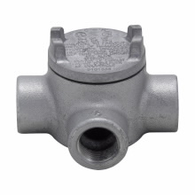 Crouse-Hinds Series GUAT16 1/2 Inch Hub 3 Inch Cover Opening Cast Iron Conduit Outlet Box with Cover