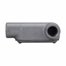 Crouse-Hinds Series LR17 CG 1/2 Inch Cast Iron Form7 Type LR Pre-Assembled Conduit Body and Cover with Gasket
