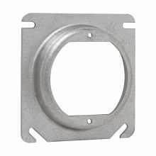 Crouse-Hinds Series TP473 4 Inch 1/4 Inch Raised Steel Square Box Cover with Open Ear