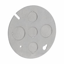 Crouse-Hinds Series TP648 Steel Concrete Box Plate with Knockout