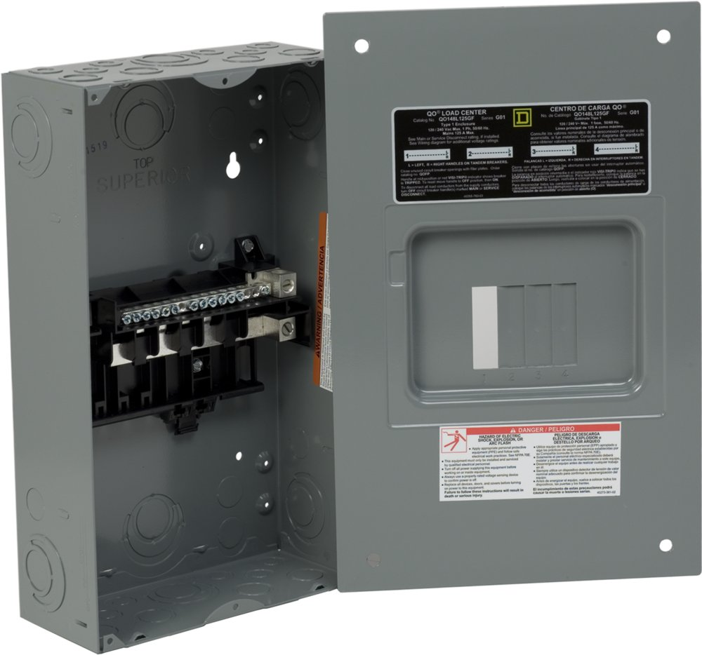 Electricalsuppliescom Product Category Gold 125 Amp 4space 8circuit Outdoor Main Lug Circuit Breaker Panel Dq0148l125gf