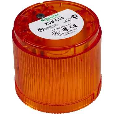 SQD XVEC35 ORANGE STEADY LENS 5 WATT OR LED 240V MAX