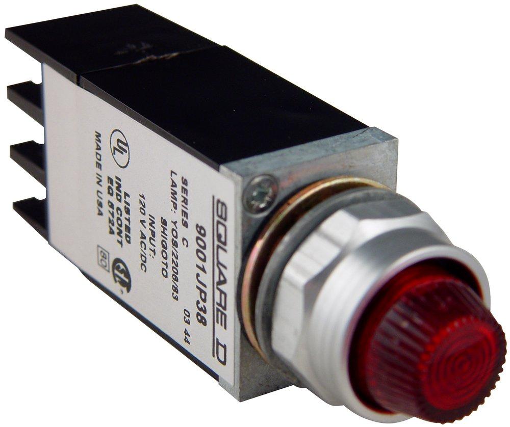 SQD 9001JP38LRR29 PILOT LIGHT 120V 11/16IN TYPE J +OPTIONS