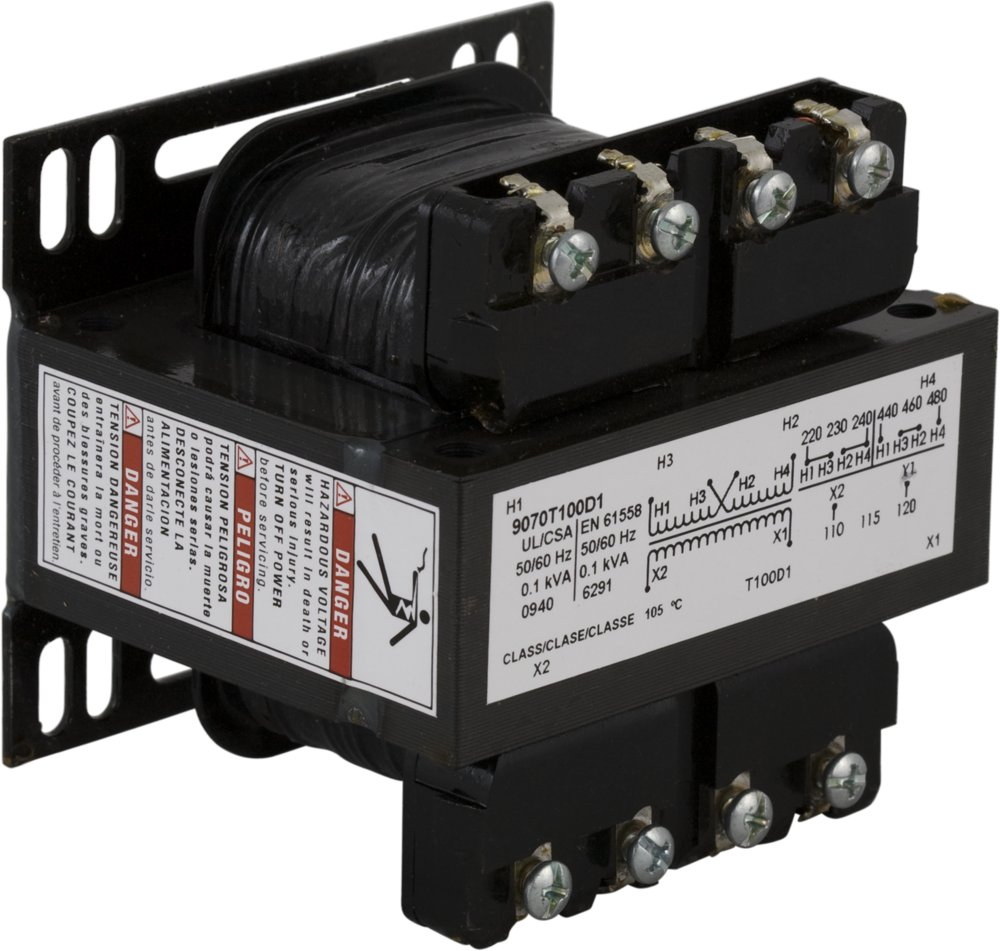 SQD 9070T100D4 TRANSFORMER CONTROL 100VA 277V-120V