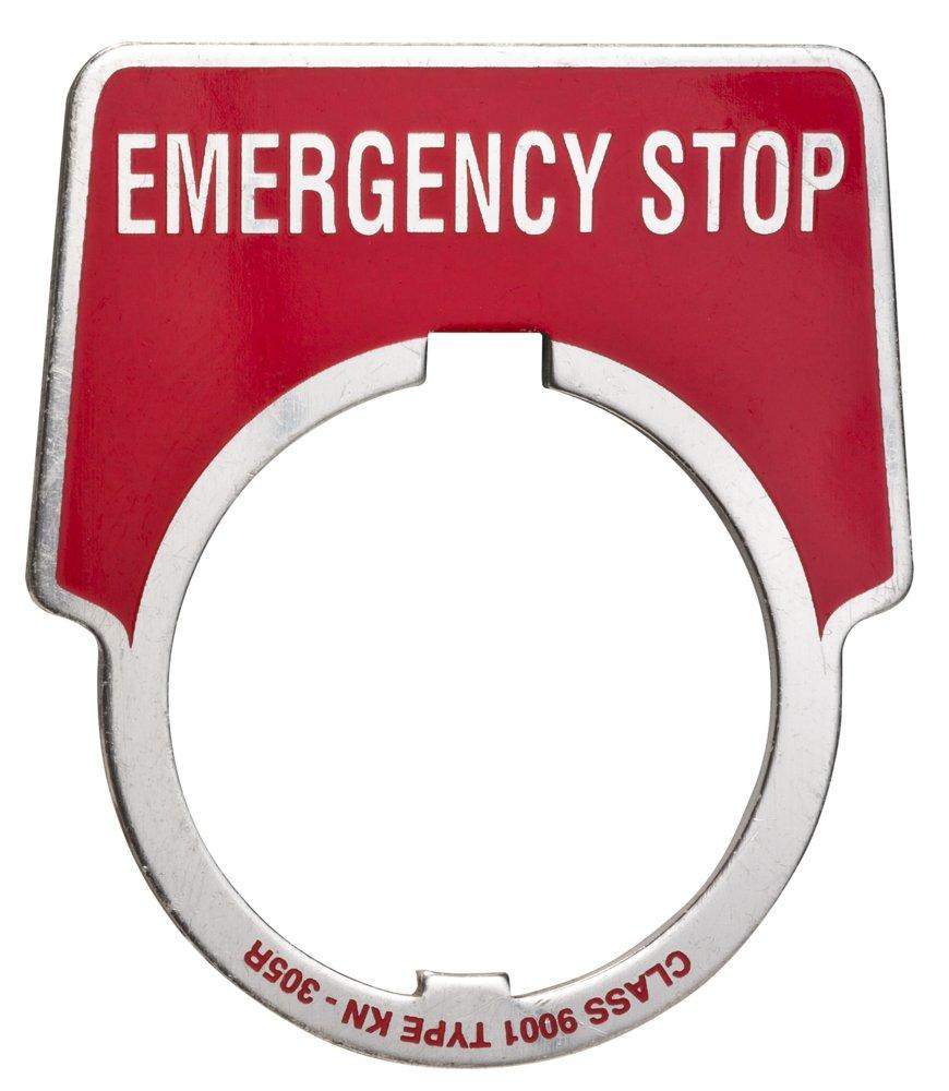SQD 9001KN305 EMERG STOP LEGEND PLATE