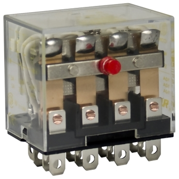 SQD8501RS44P14V20 RELAY 250VAC 10AMP TYPE R +OPTIONS;Square D™ 8501RS44P14V20 Type R Miniature Plug-In Relay With Standard Cover, 12 A, 14 Pins, 4PDT (4C/O) Contact Form, 120 VAC Coil
