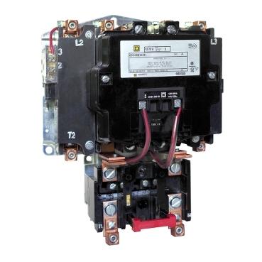 Square D™ 8536SEO2V02S Type S Magnetic Starter, 110 VAC at 50 Hz/120 VAC at 60 Hz V Coil, 4 Poles, Open Enclosure