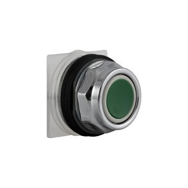 Schneider Electric Harmony™ 9001KR1G Type K Standard Non-Illuminated Pushbutton Operator, 30 mm, 2 Positions, Green