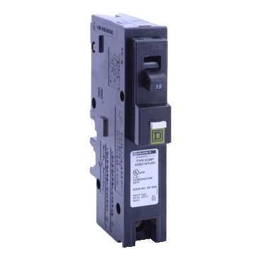 SQD HOM115PCAFI SP-120/240V-15A - Plug-on Neutral Combination Arc Fault Circuit Breaker