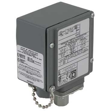 SQD9012GAW24K1 PRESSURE SWITCH 480VAC 10AMP G OPTIONS;Square D™ 9012GAW24K1 1-Stage Low Pressure Electromechanical Pressure Switch, 1.5 to 75 psi Pressure, 3.5 to 15 psi Differential, DPDT (Isolated) Contact, Screw Clamp Connection