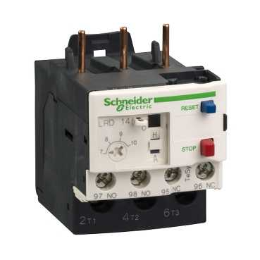 SQDLRD08 BIMETALLIC OVERLOAD RELAY 600V 4A IEC;Schneider Electric TeSys™ LRD08 D-Line Thermal Overload Relay, 2.5 to 4 A, 1NO-1NC Contact