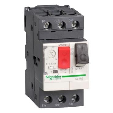 Schneider Electric Square D™ GV2ME01 TeSys™ GV2ME Circuit Breaker Thermal Magnetic Manual Starter, 3 Poles, IP20 Enclosure