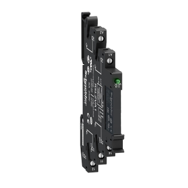 SQDRSL1PVFU RELAY + SCREW CONNECTOR SOCKET 115 VAC/VDC;Schneider Electric Zelio™ RSL1PVFU RSL Electro-Mechanical Slim Interface Relay With Protection Circuit, 6 A, 1CO/SPDT Contact, 60 VDC V Coil