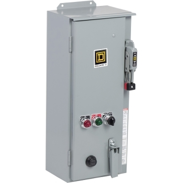 SQD 8538SCASP3 COMBINATION STARTER KIT - CONTAINS NEMA1 STR, NEMA3R ENCLOSURE,RED LIGHT, GRN LIGHT, 1HOA SW