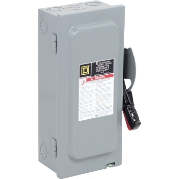 SQD H221N 30A 240V 3SN HD Fusible Safety Switch