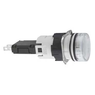 Schneider Electric Harmony™ Square D™ XB6AV1BB Direct Pilot Light, 12 to 24 VAC/VDC, Panel Mount