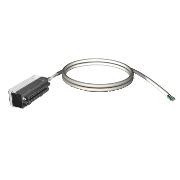 SQDBMXFTW301 FTB 20 WIRE 3M CABLE;Schneider Electric Square D™ BMXFTW301 1-Cable Preformed Cord Set With End Flying Leads, 3 m L Cable, For Use With Modicon™ X80 I/O Platform Discrete I/O Module