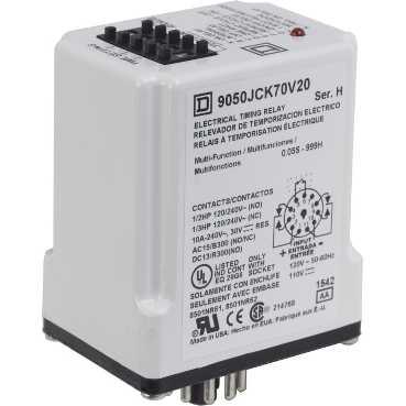 SQUARE D 9050JCK70V14 - Timer Relay 240VAC 10AMP +Options