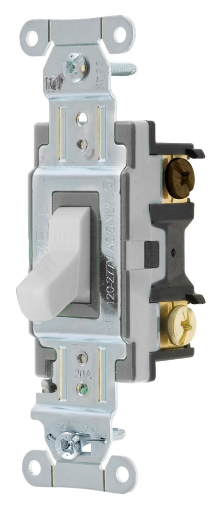 P/&S Brown Extra Heavy Duty INDUSTRIAL 4-Way Toggle Wall Light Switch 20A PS20AC4