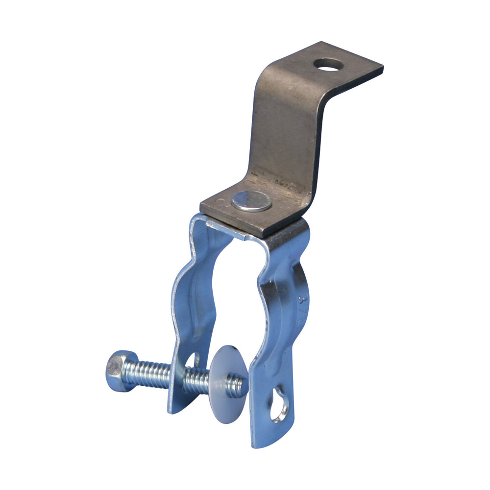 """1"""" EMT OR RIGID CONDUIT CLAMP WITH RETAINED BOLT,"""