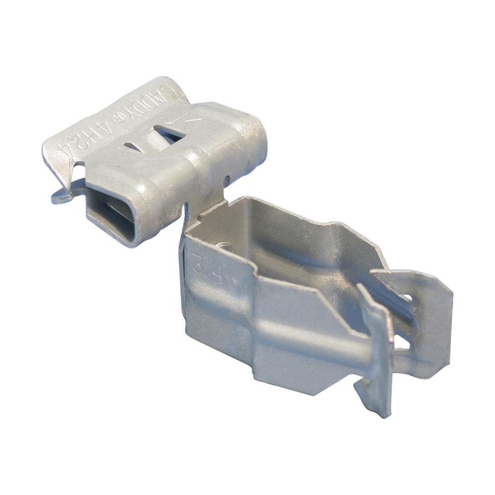 CAD 8P24SM CONDUIT CLIP,1/2 FLANGE 1/8-1/4 SIDE MOUNT