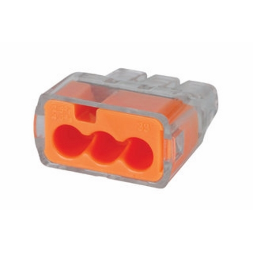 IDE 30-1033J IN-SURE PUSH-IN WIRE CONNECTOR, 12 AWG, 3-PORT, 250/JAR WIRE CONN CS=250/1500