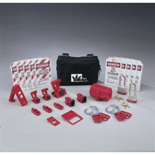 IDE 44-971 Lockout Or Tagout Kit,Ideal,STD,NYL Zipper,25 Pieces
