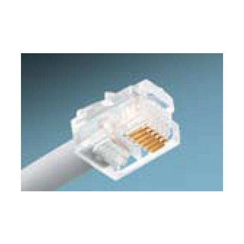 IDE 85-345 RJ-11 6 POS 6 CONTCT MOD PLUGS 6-CONTACT 1bx = BOX OF 25 PIECES