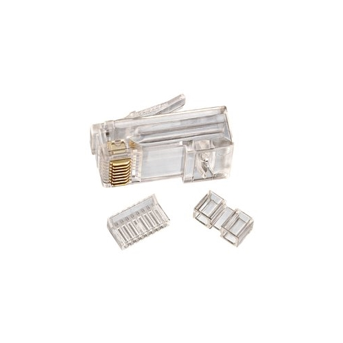 IDE 85-366 RJ45 8P8C CAT6 Modular Plug 3 Piece 25/Pack 1bx=(BOX OF 25 PIECES)