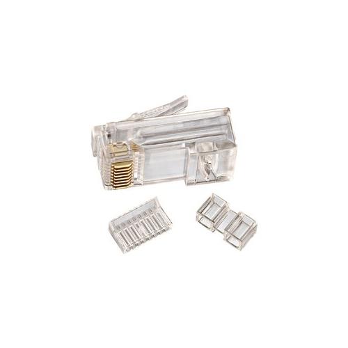 IDE 85-366 RJ45 8P8C CAT6 Modular Plug 3 Piece 25/Pack 1bx = BOX OF 25 PIECES