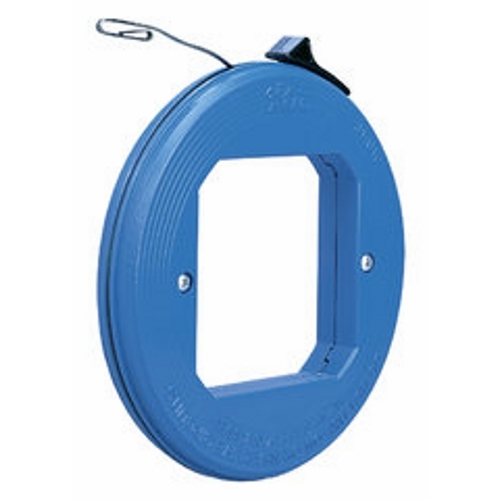 Fish Tape,IDEAL,Blued-Steel,Thumb -Winder,25.000 FT LEN,1/8 IN W,0.045 IN Thick