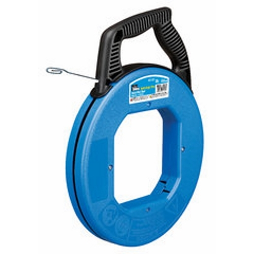 Fish Tape,IDEAL,Blued-Steel,Tuff-Grip Pro,50.000 FT LEN,1/4 IN W,0.060 IN Thick