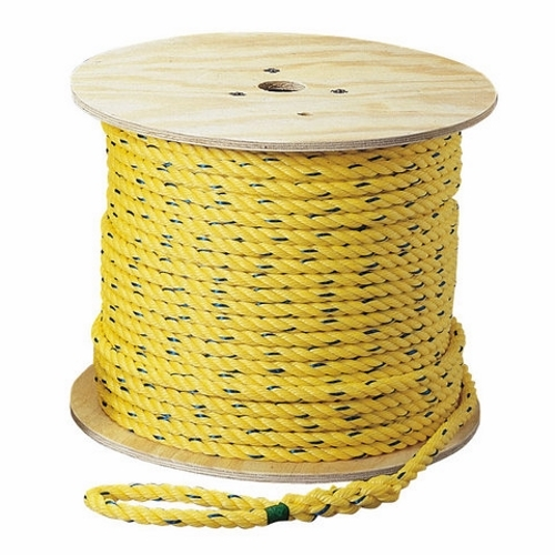 """IDEAL 31-844 PolyProp Pro-Pull Rope, Yellow, 3/8"""" x 250' Spool, 2430lb Tensile"""
