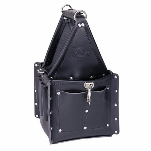IDL35-975BLK TOOL CARRIER,IDEAL,TUFF-TOTE,ULTIMATE,4 OUTSIDE POCKETS,BLK,PREMIUM LEATHER, IDEAL INDUSTRIES