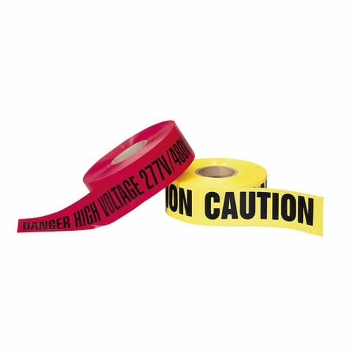Tape,Ideal,Barricade,OSHA Specifications Section 1010.144,Red,POLY