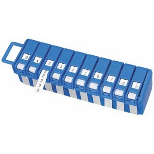 IDEAL 42-301 Wire Marker Roll Dispenser w/10 Rolls, Legend 0-9