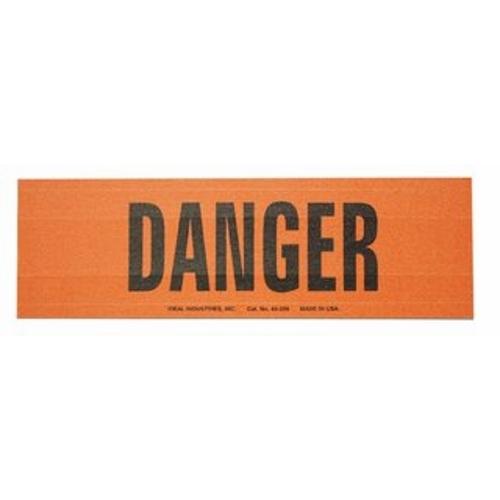 "IDEAL 44-289 Voltage & Conduit Marker Card ""Danger"" 2-1/4"" x 9"" Vinyl-Impregnated Cloth"