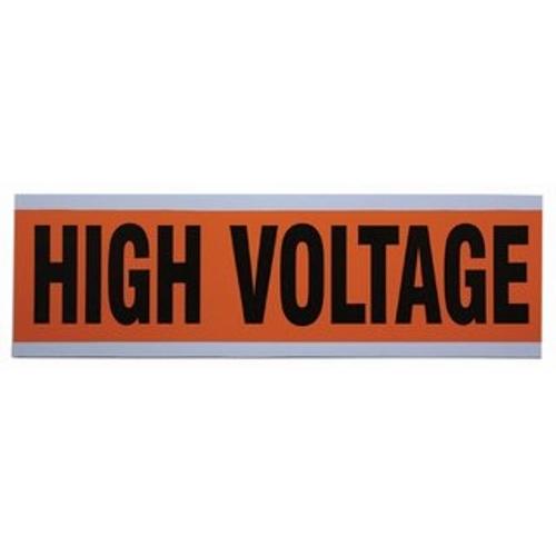 "IDEAL 44-292 Voltage & Conduit Marker Card ""High Voltage"" 2-1/4"" x 9"" Vinyl-Impregnated Cloth"