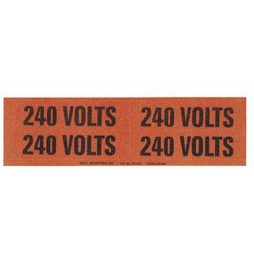 Marker Card,Ideal,Voltage And COND,MED,SZ: 1-1/8 IN W,4-1/2 IN LEN,LGND: 240V