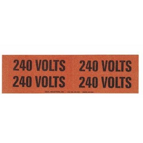 "IDEAL 44-358 Voltage & Conduit Marker Card ""240V"" 1-1/8"" x 4-1/2"" Vinyl-Impregnated Cloth"