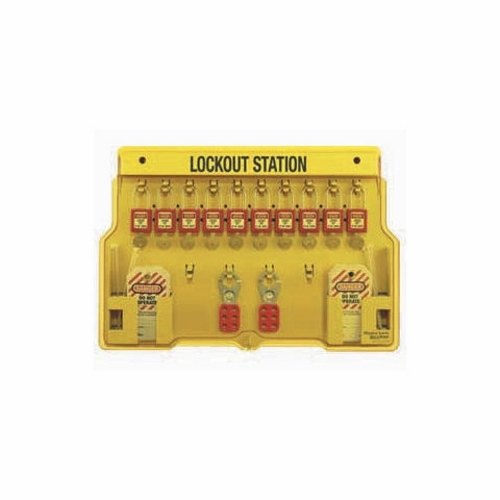 IDEAL 44-806 10 Lock Lockout Station Kit (Board w/Locks/Tags & Hasps)