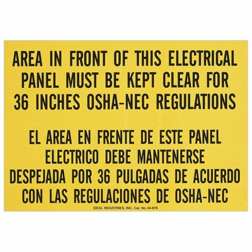 IDL44-877 SAFETY SIGN, IDEAL