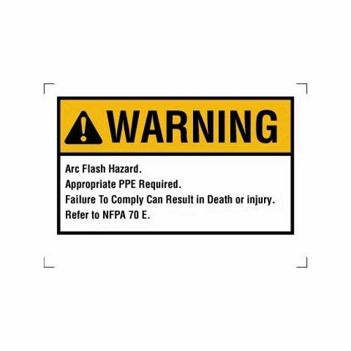 "Ideal 44-892 5 x 3-1/2"" Self Sticking Polyester Warning NEC Arc Flash Legend Flash Protection Label and Sign"