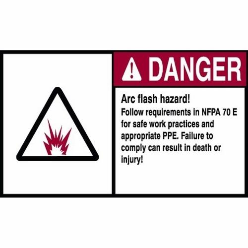 NEC ARC FLASH DANGER LBL 5X7
