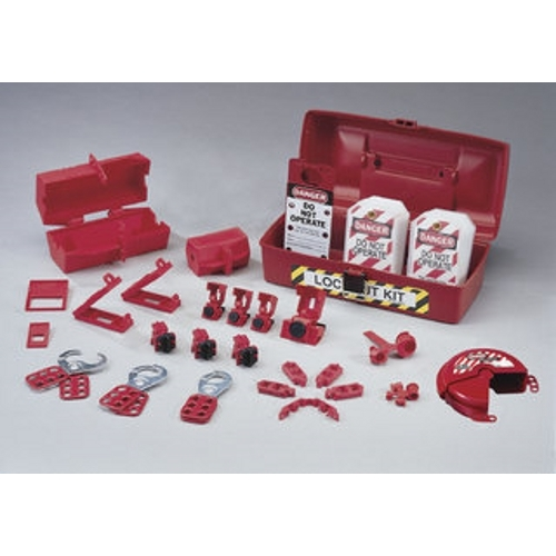 Lockout Or Tagout Kit,Ideal,Plant Facility,Polypropylene,36 Pieces
