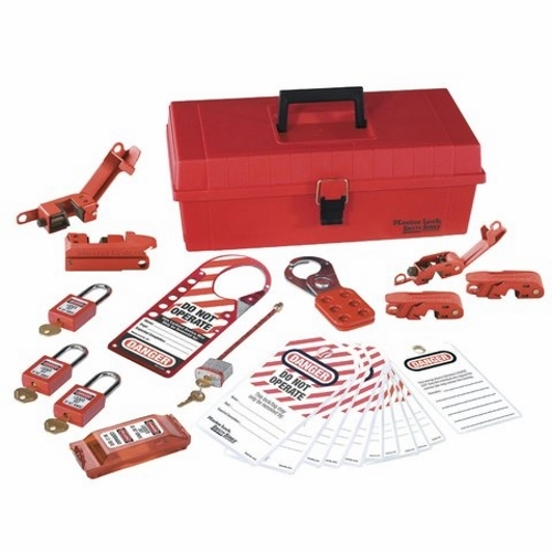 Lockout Or Tagout Kit,Ideal,Job Site,25 Pieces