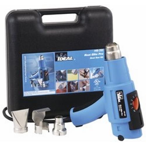 IDEAL 46-203 Heat Elite Pro Heat Gun Kit (Gun,Deflector,Reduction Adapter,Wide-Slot Adapter), 180-1020 F