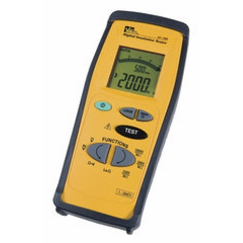 IDEAL 61-795 Insulation Tester, Hand-Held, Cat IV Resistance Range: 0 To 200 Ohm